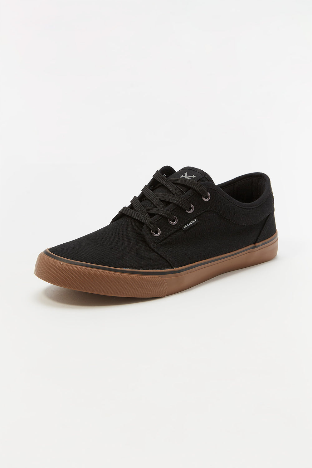Zoo York Mens Canvas Skate Shoes Pure Black