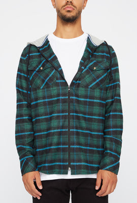 Mens Lightweight Plaid Hoodie