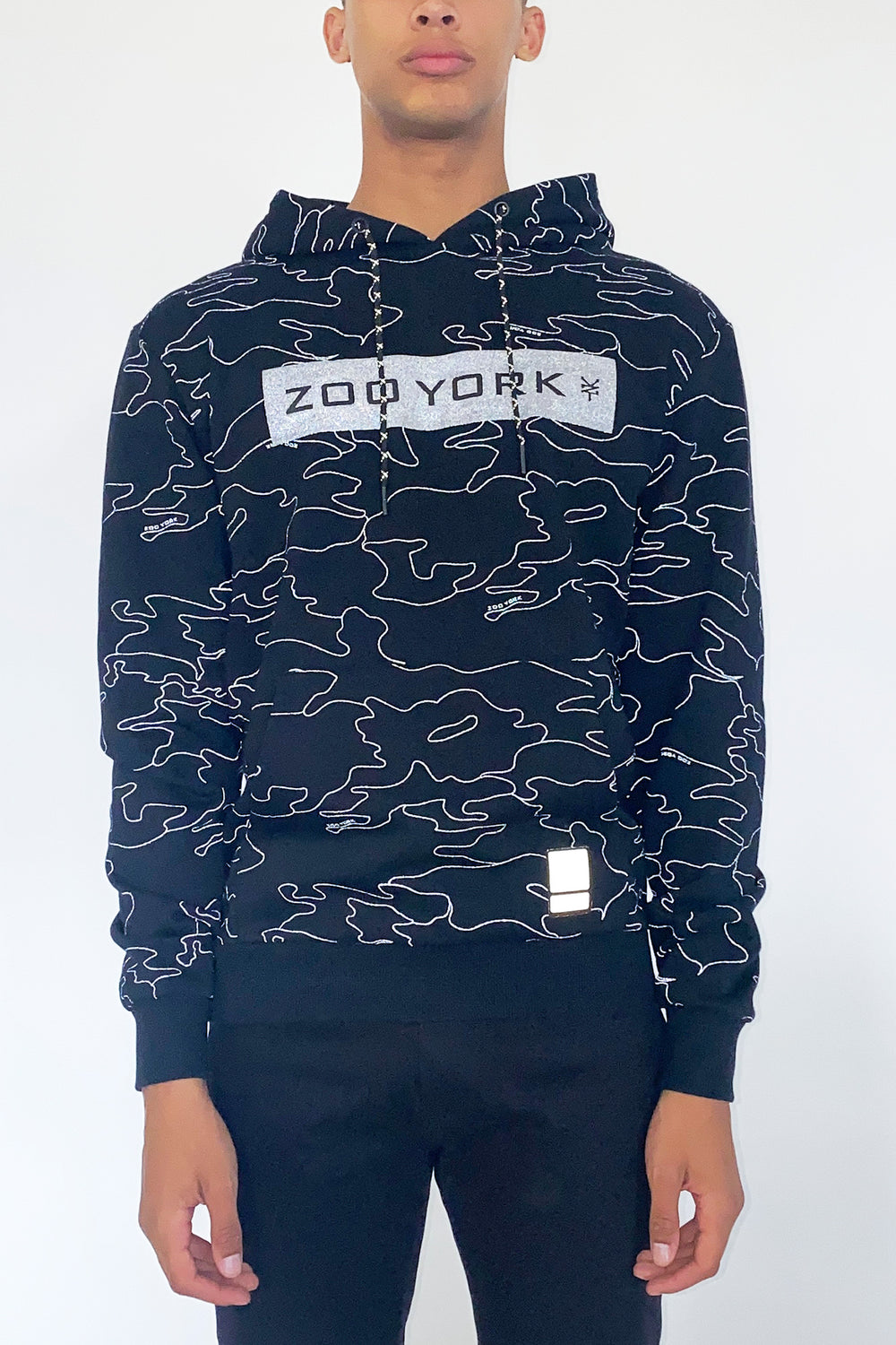 Zoo York Mens Reflective Camo Hoodie Buffalo Check