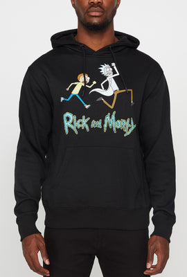 Rick & Morty Spaceship Mens Hoodie