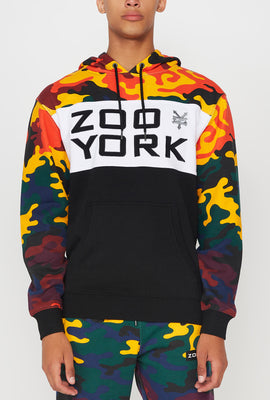 Zoo York Mens Rainbow Camo Colour Block Hoodie
