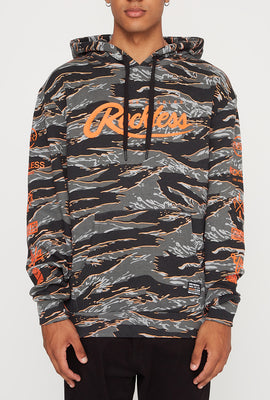 Young & Reckless Mens Tiger Camo & Neon Hoodie