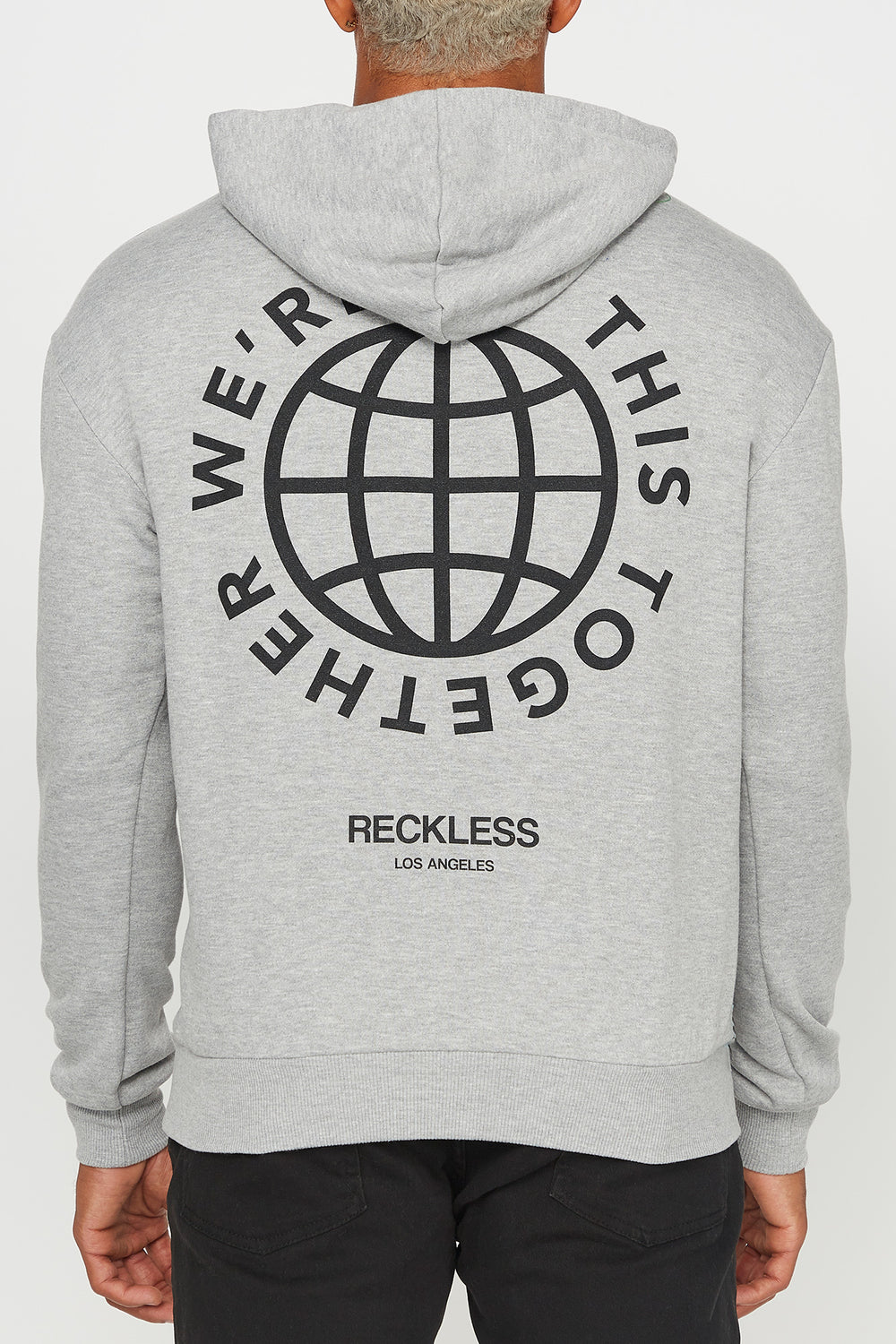 Young & Reckless Mens We're In This Together Hoodie Heather Grey