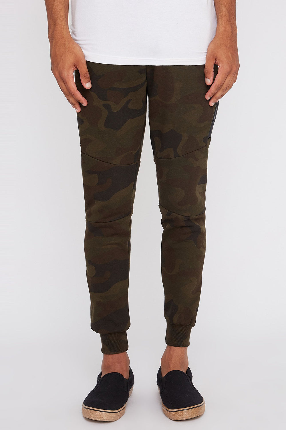 Zoo York Mens Camo Side Zipper Jogger Camouflage