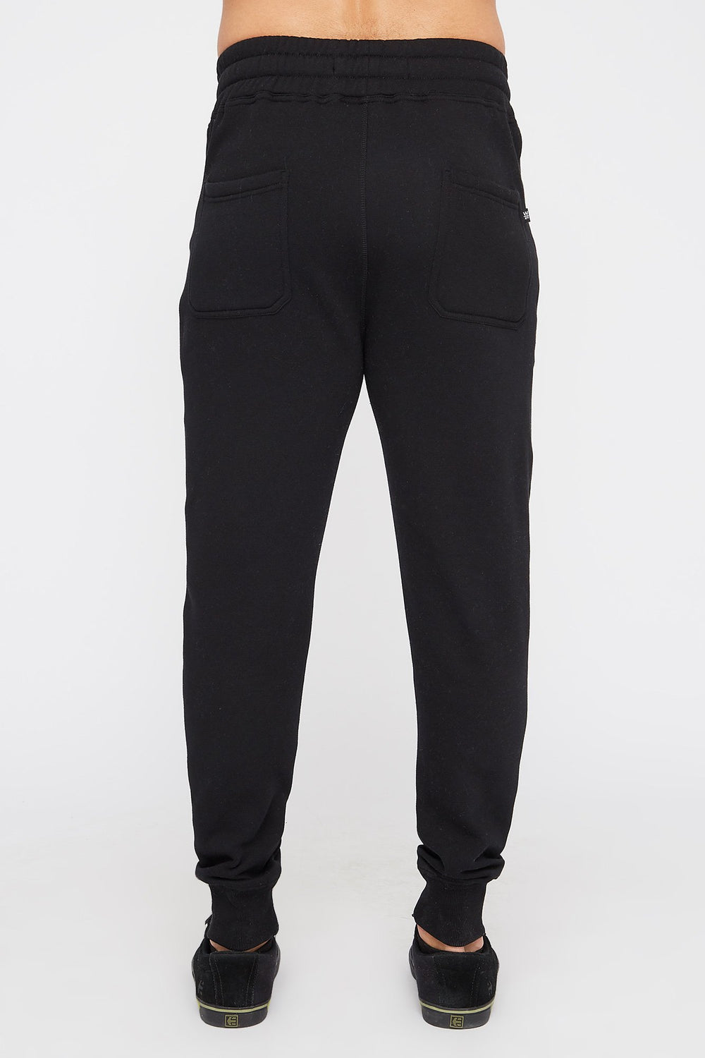 West49 Mens Solid Zip-Up Jogger Black