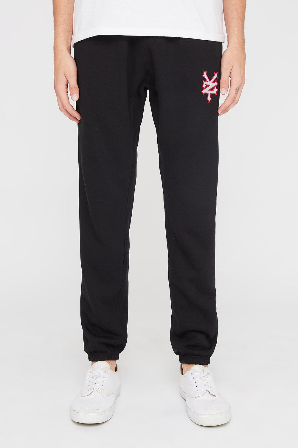 Zoo York Mens Embroidered Logo Joggers Black