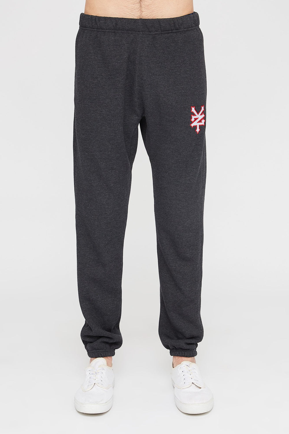Zoo York Mens Embroidered Logo Joggers Charcoal