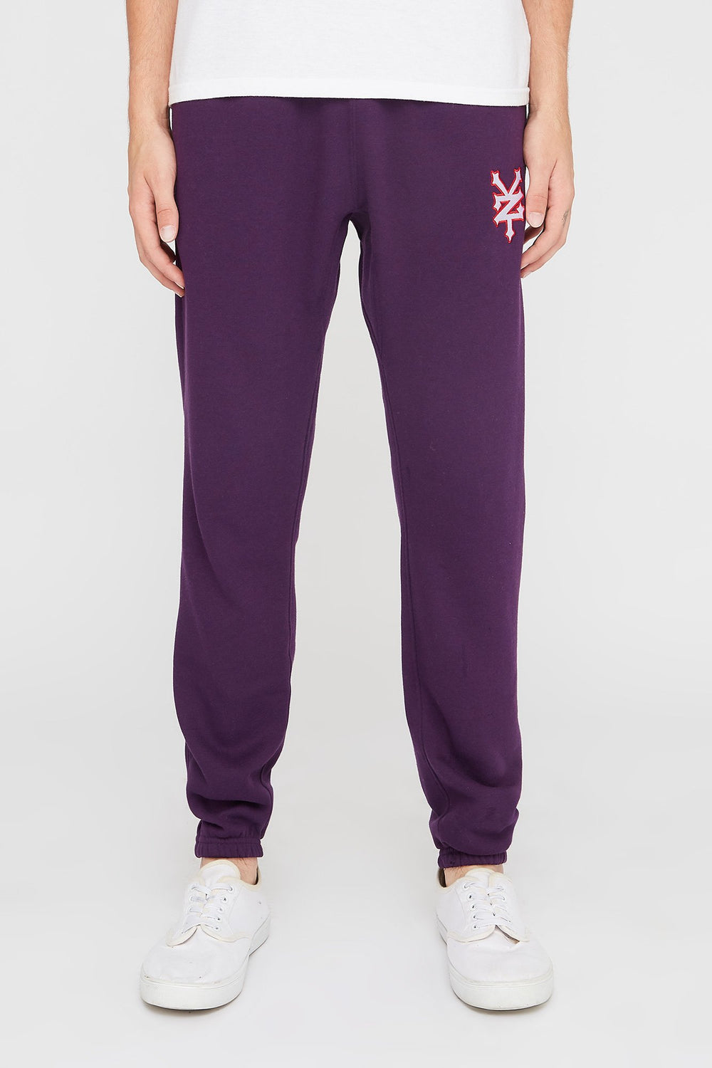 Zoo York Mens Embroidered Logo Joggers Dark Purple