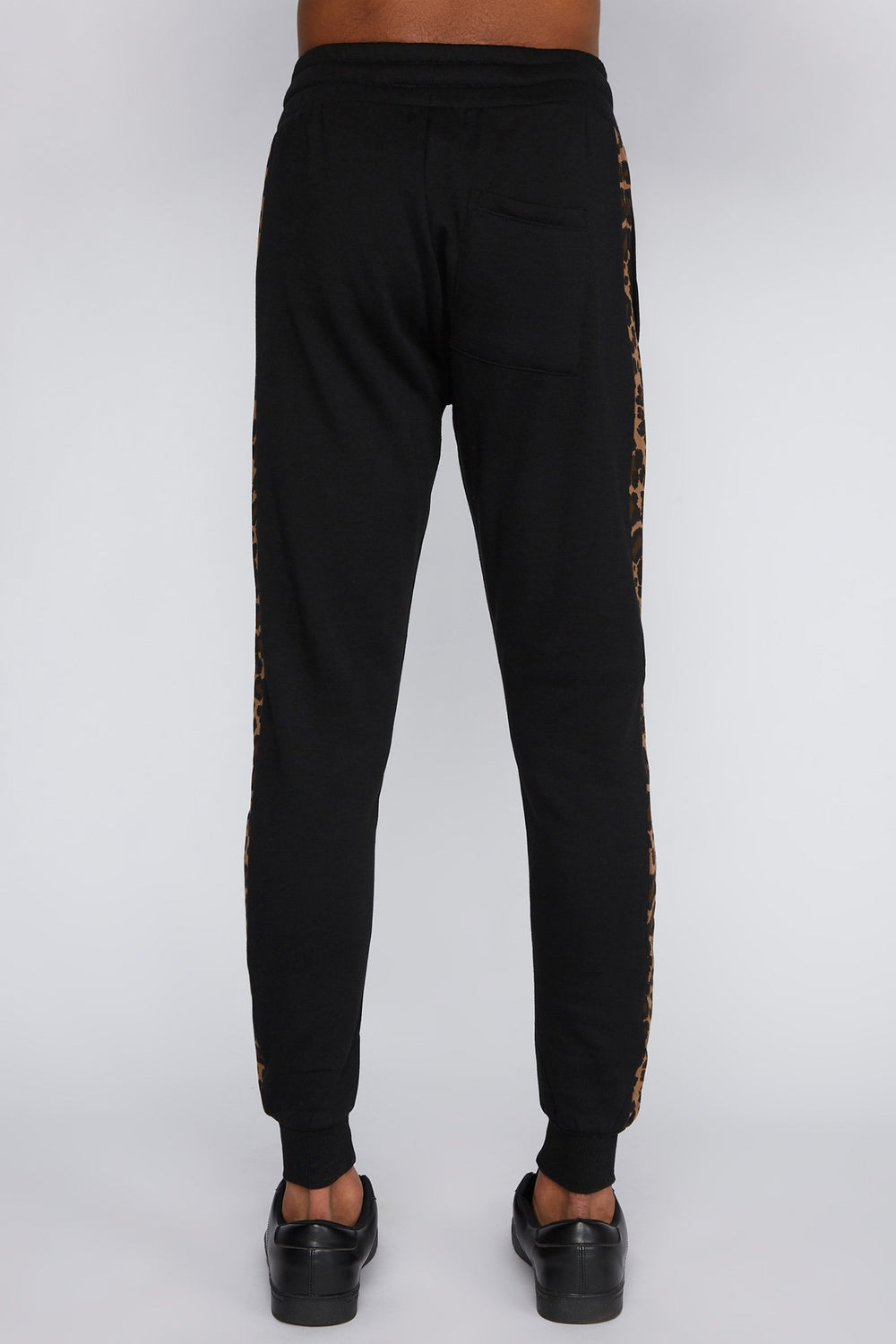 Young & Reckless Mens Leopard Print Jogger Black