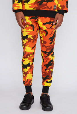 Jogger Camouflage Orange Young & Reckless Homme