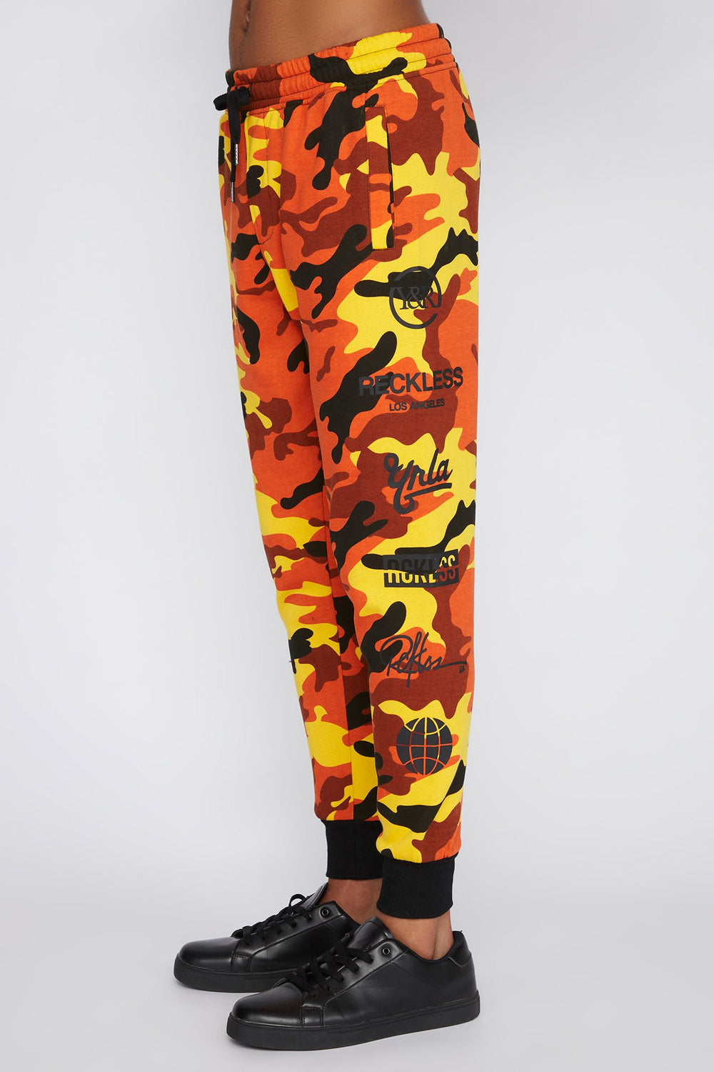Young & Reckless Mens Orange Camo Jogger Camouflage