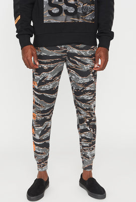 Young & Reckless Mens Tiger Camo Jogger