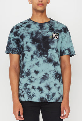 Young & Reckless Mens Tie-Dye Rose Logo T-Shirt