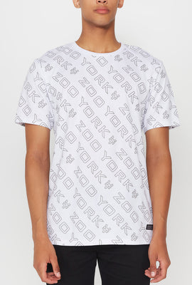 Zoo York Mens Printed Reflective Logos T-Shirt