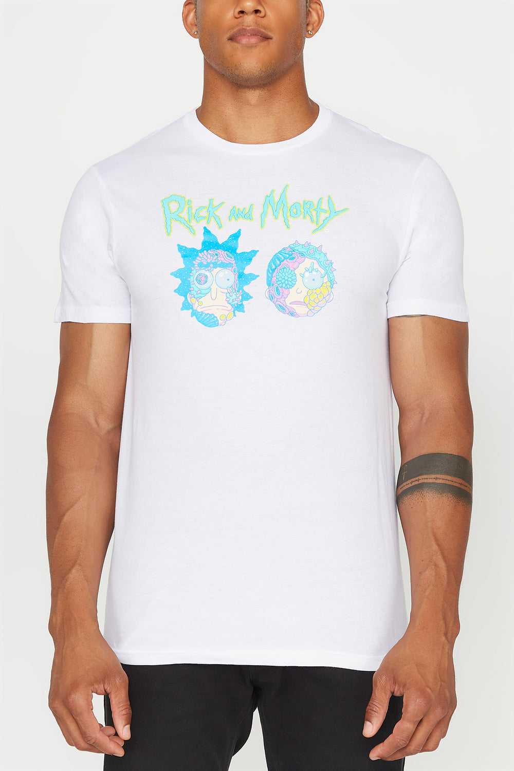 Rick & Morty Cyborg Face Mens T-Shirt White