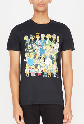 Mens Simpsons Group Shot T-Shirt