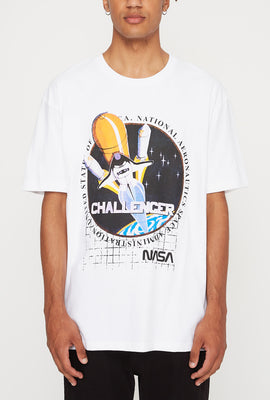 NASA Mens Challenger Graphic T-Shirt
