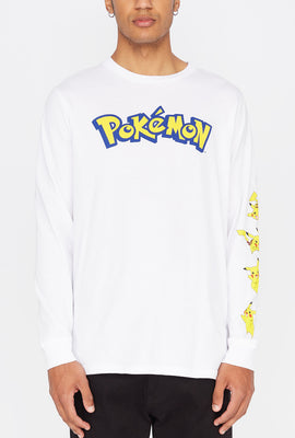 Mens Pokemon Graphic Long Sleeves