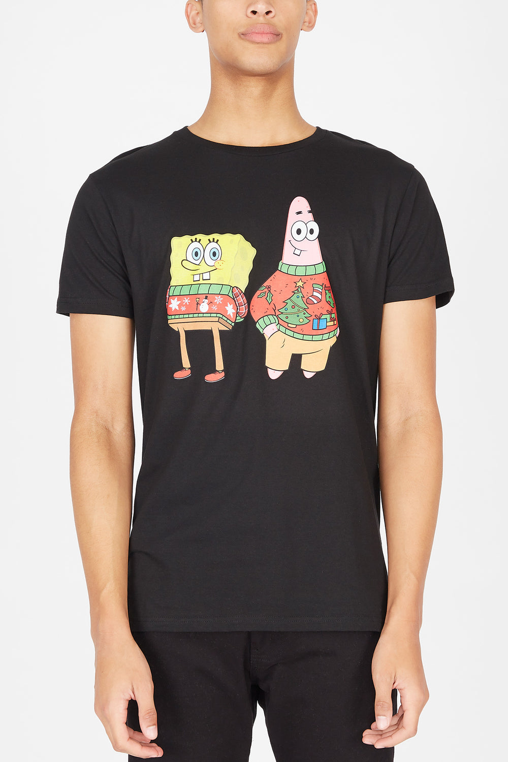 SpongeBob Squarepants Holiday T-Shirt Black