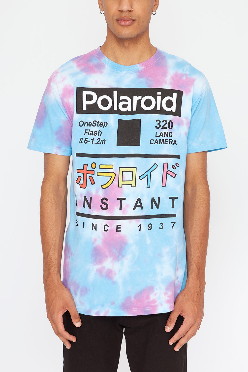 Mens Polaroid T-Shirt Purple