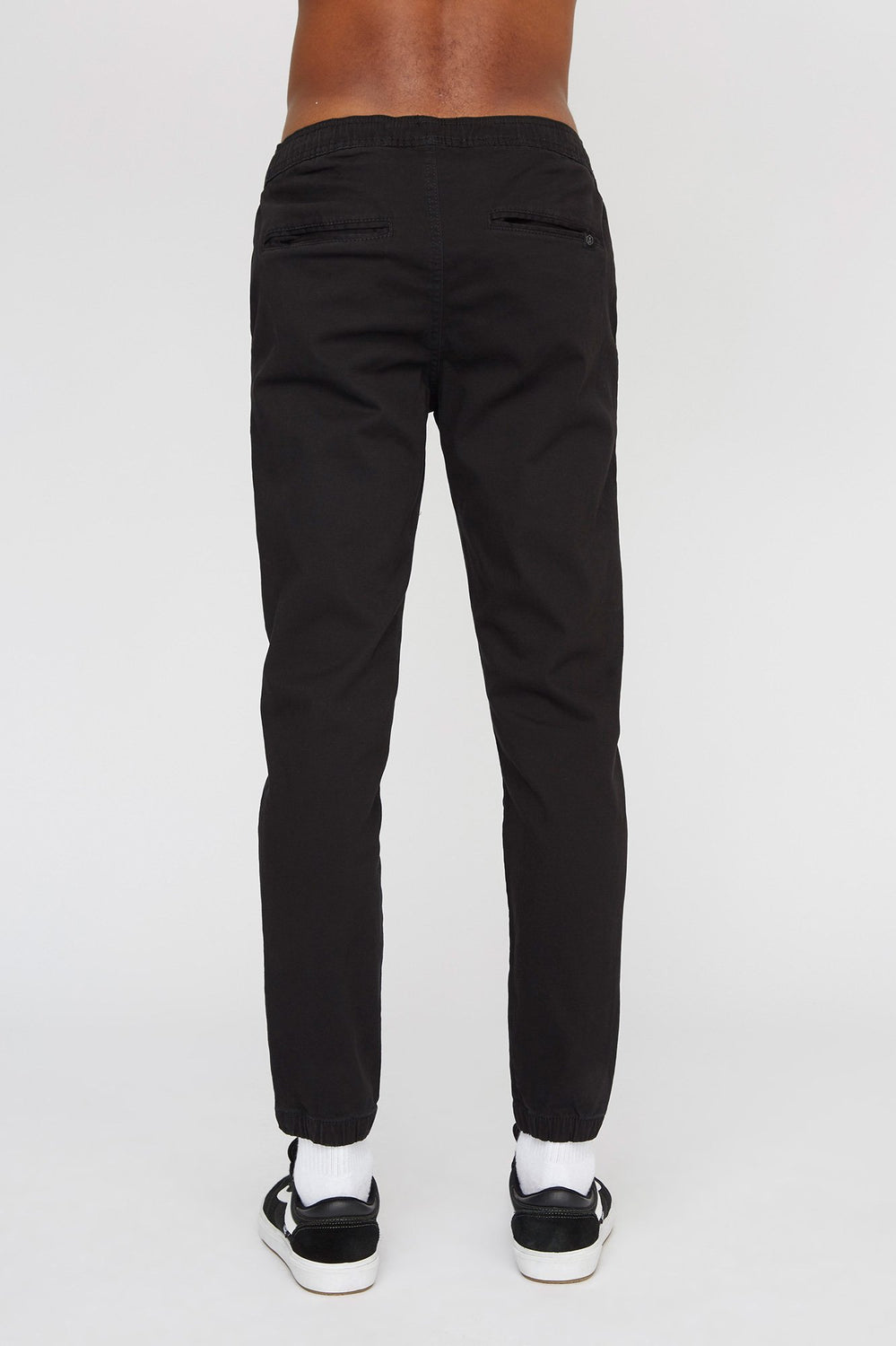 West49 Mens Solid Twill Basic Jogger Black