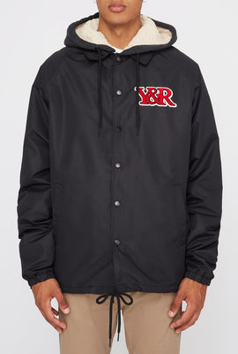 Young & Reckless Mens Patch Logo Hooded Jacket