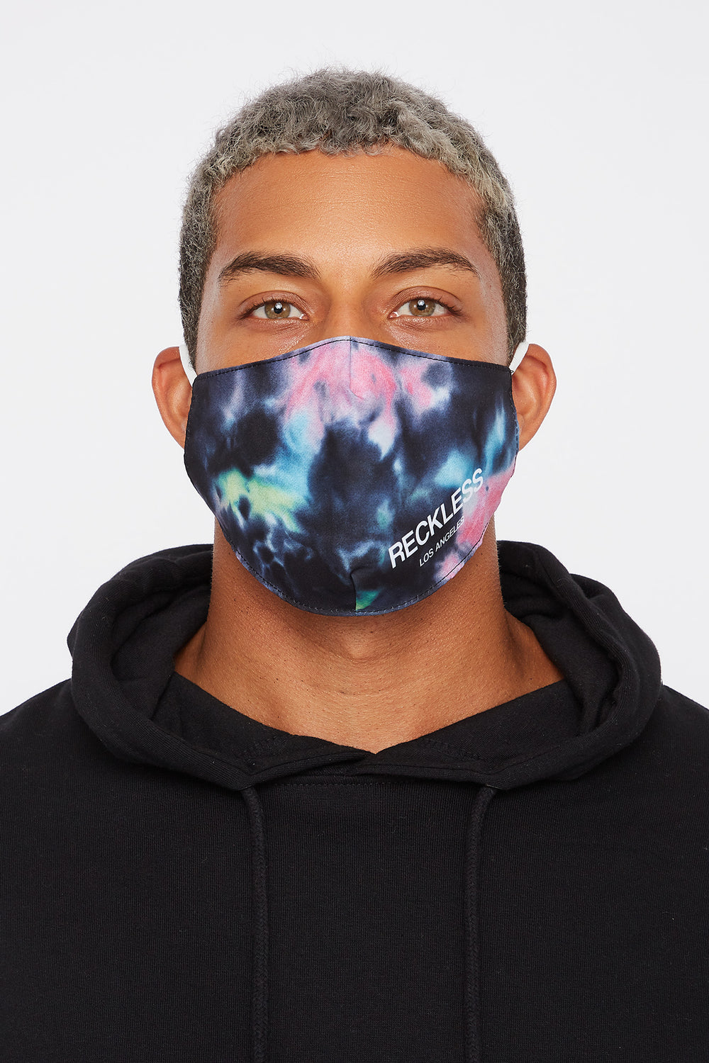 Young & Reckless Tie-Dye Washable & Reusable Protective Face Mask 2-Pack Multi