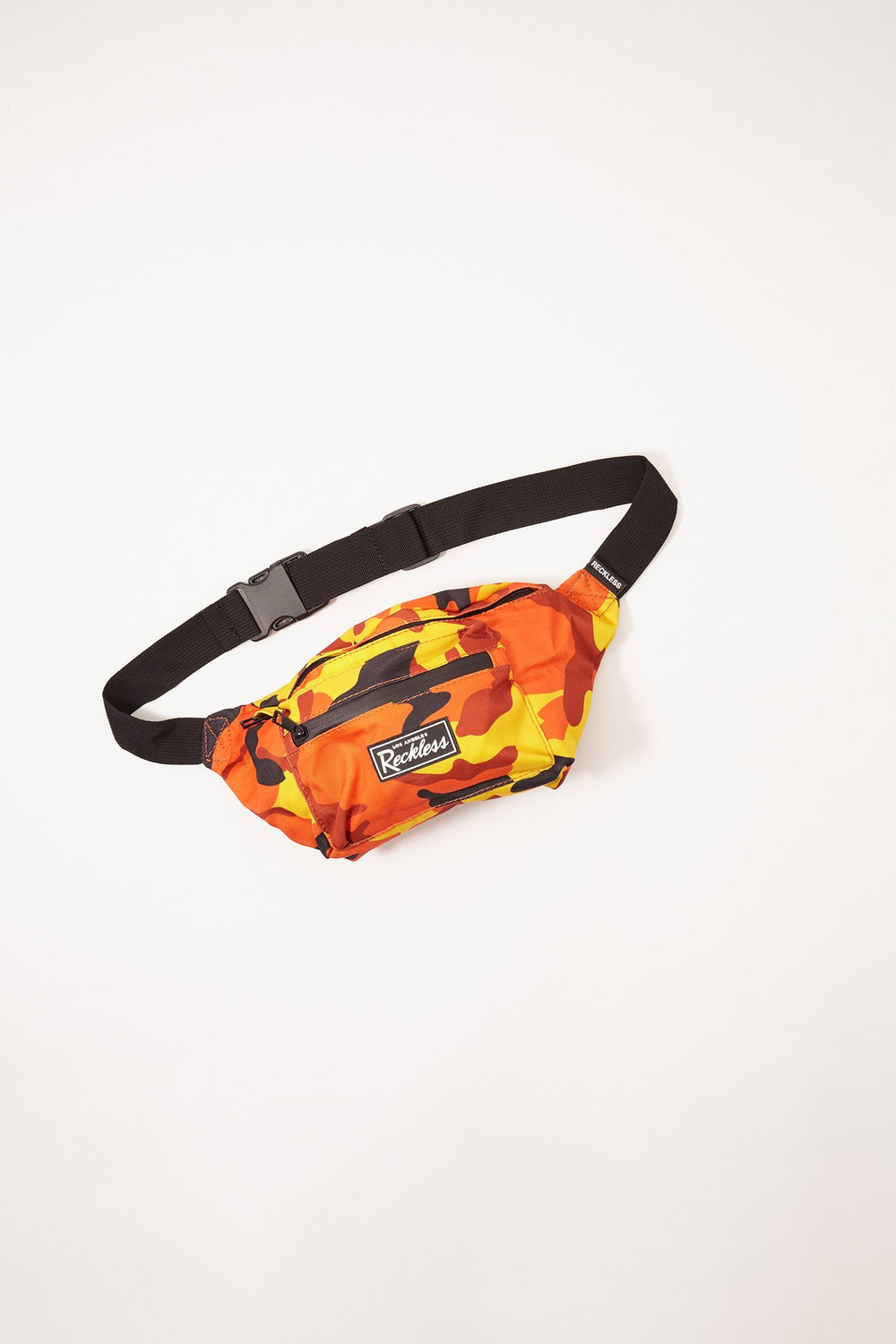 Sac Banane Motif Camouflage Young & Reckless Orange
