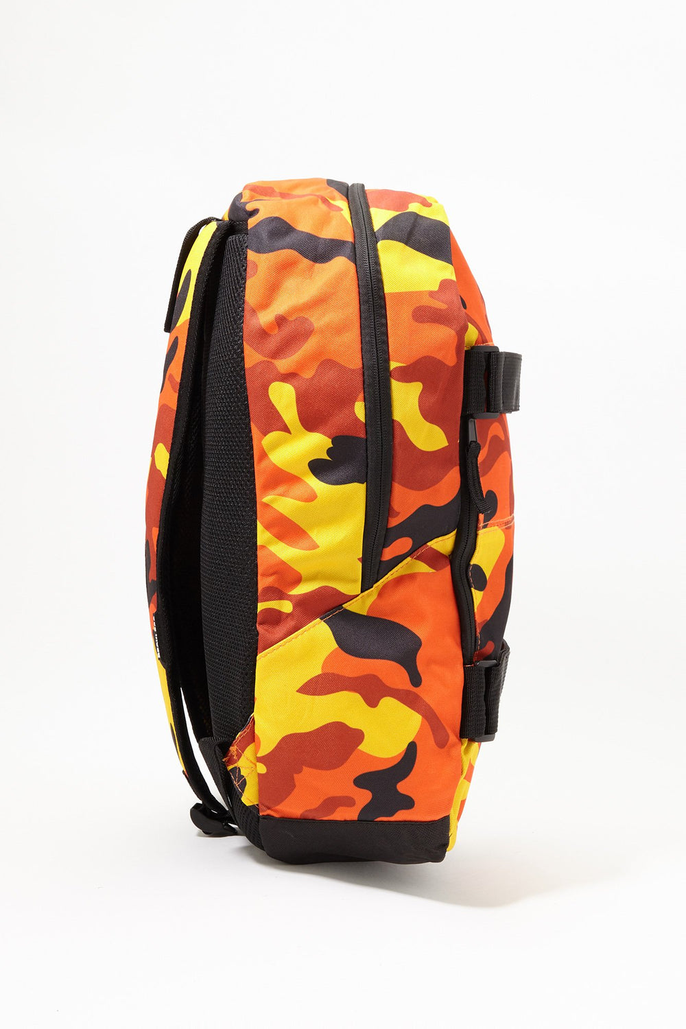 Young & Reckless Camo Skateboard Backpack Orange