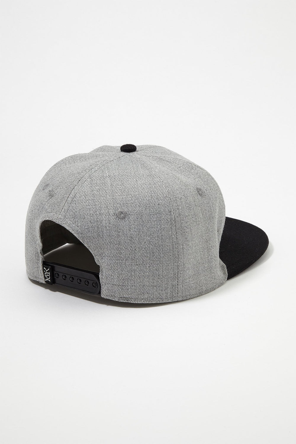 Young & Reckless Mens Red Box Logo Snapback Hat Heather Grey