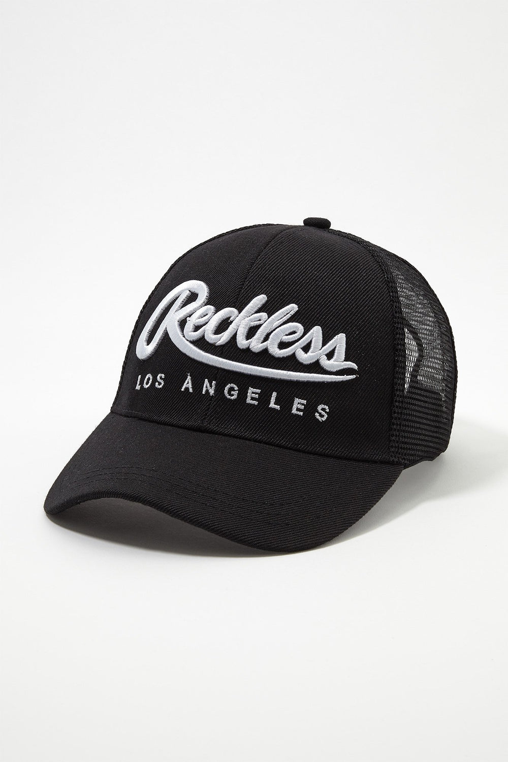 Young & Reckless Mens Snapback Trucker Hat Black