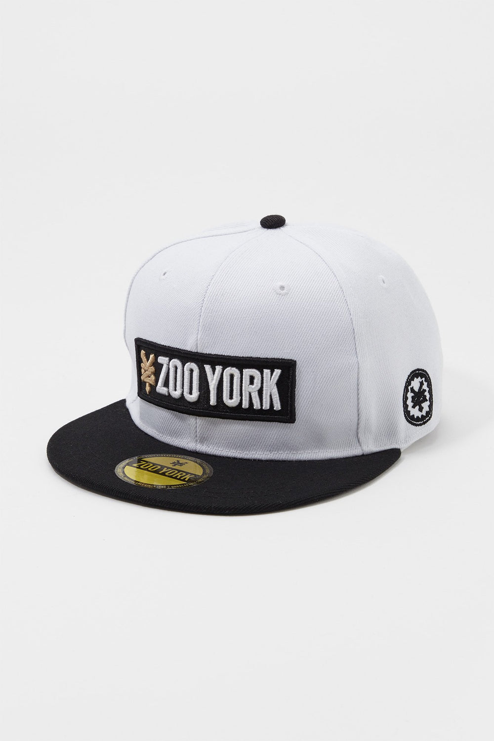 Zoo York Mens Box Logo Snapback Hat White