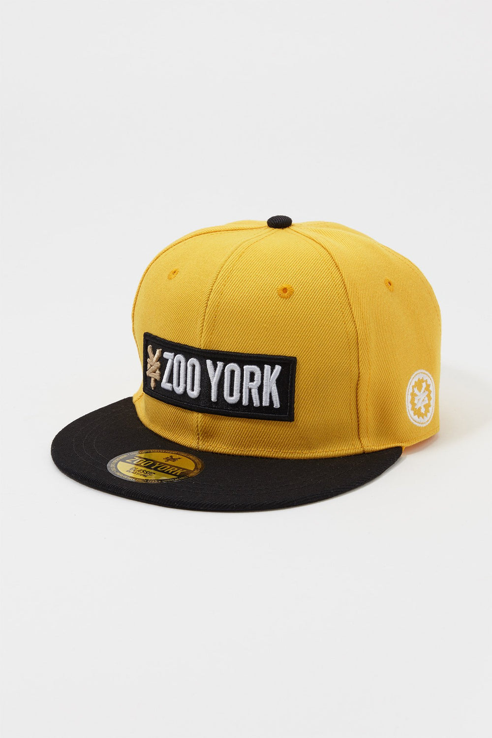 Zoo York Mens Box Logo Snapback Hat Mustard