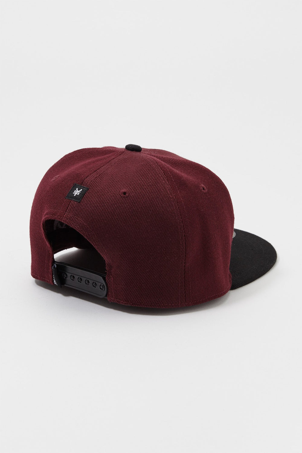 Zoo York Mens Box Logo Snapback Hat Burgundy