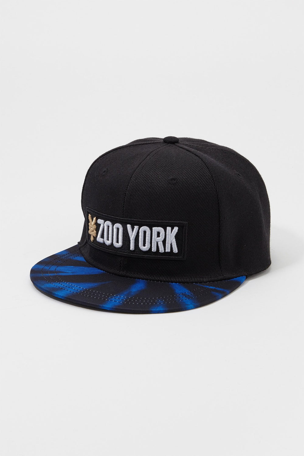 Zoo York Mens Tie-Dye Brim Snapback Hat Blue
