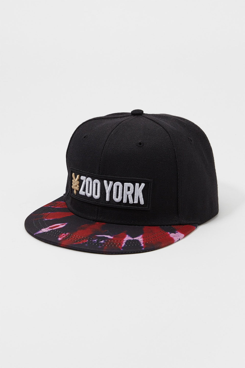 Zoo York Mens Tie-Dye Brim Snapback Hat Burgundy