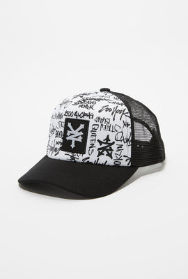 Zoo York Mens Graffiti Trucker Hat