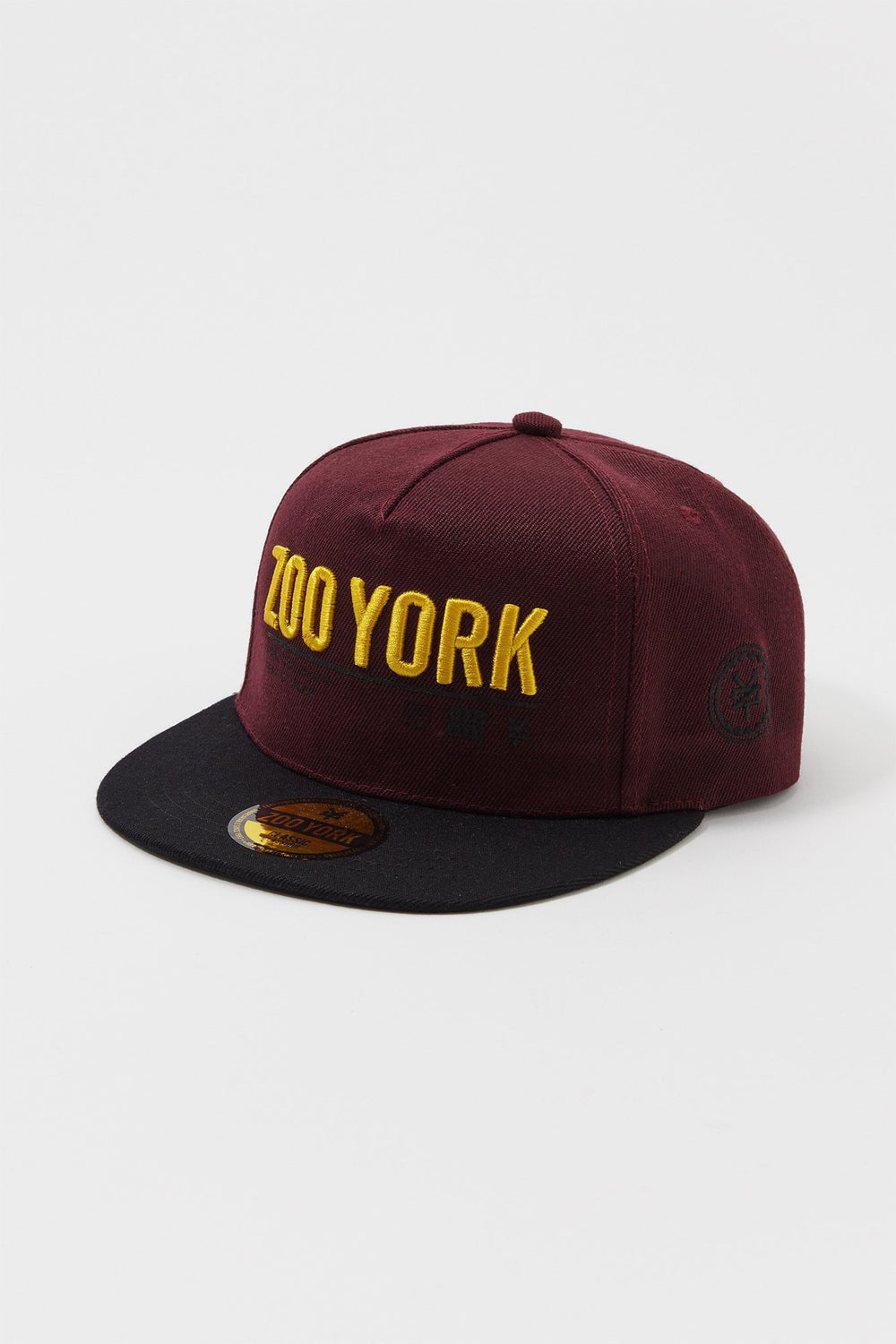 Zoo York Mens 3D Embroidered Logo Hat Burgundy