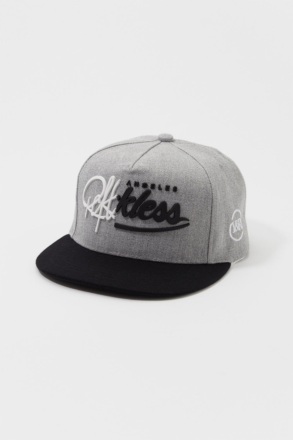 Young & Reckless Mens 3D Logo Snapback Hat Heather Grey
