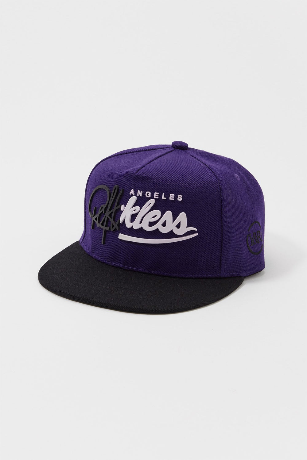 Young & Reckless Mens 3D Logo Snapback Hat Purple
