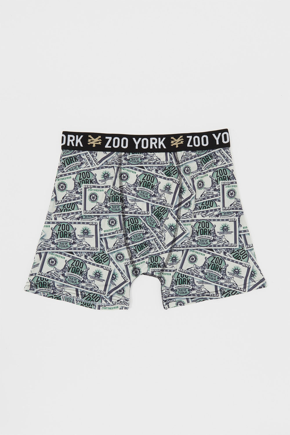 Zoo York Mens Dollar Bill Boxer Brief Green