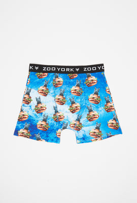 Boxer Imprimé Chat Et Hamburger Zoo York Homme