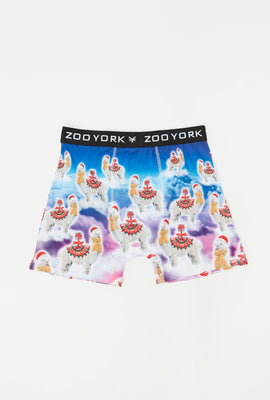 Zoo York Mens Llama On Clouds Boxer