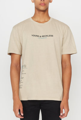 T-Shirt Vintage Young & Reckless Homme