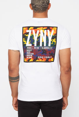 Zoo York Mens Rainbow Camo Logos T-Shirt