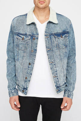 West49 Mens Acid Wash Jean Jacket