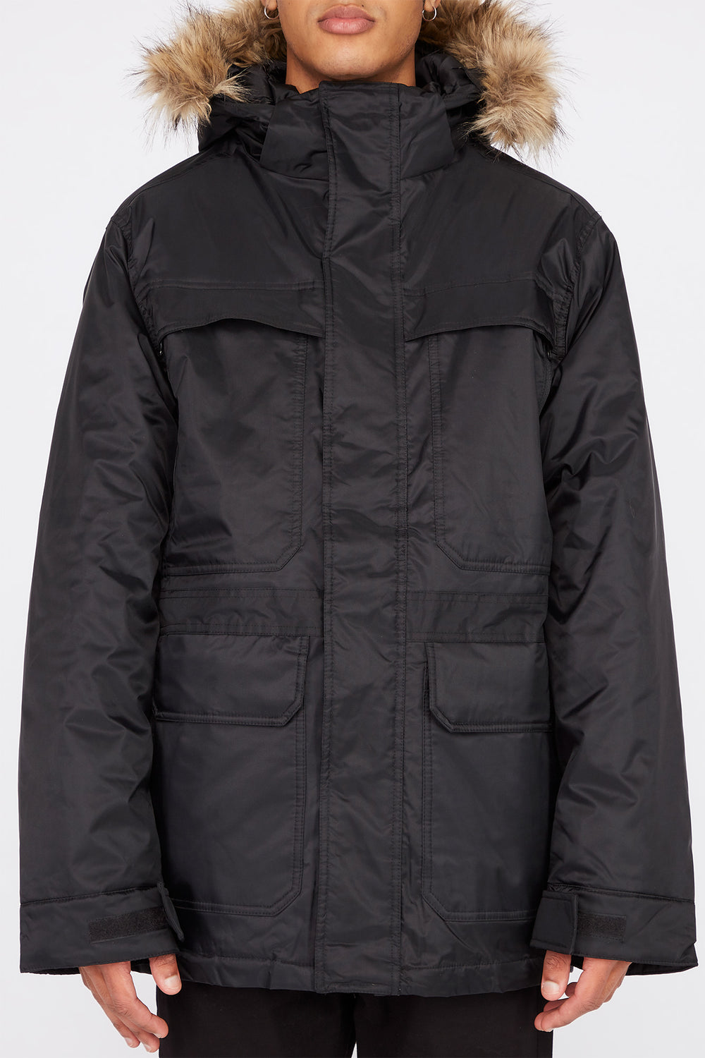 Storm Mountain Mens Arctic Series Utility Parka Jacket Black