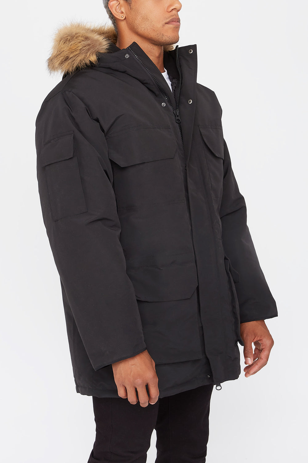 West49 Mens Parka Black