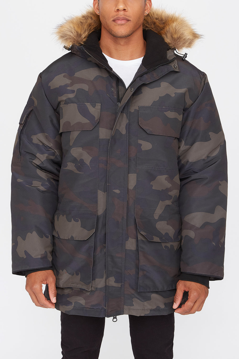 West49 Mens Parka Camouflage