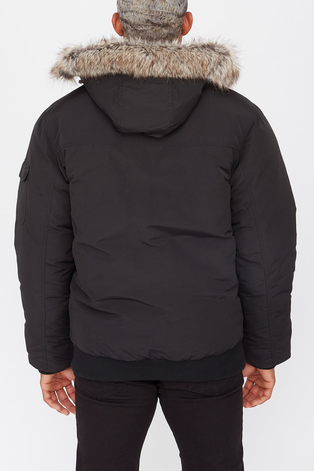 West49 Poly-Fill Bomber Jacket Black